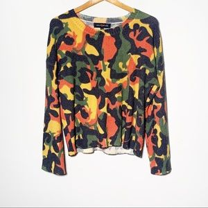 Love At First Find Wool Blend Camo Sweater